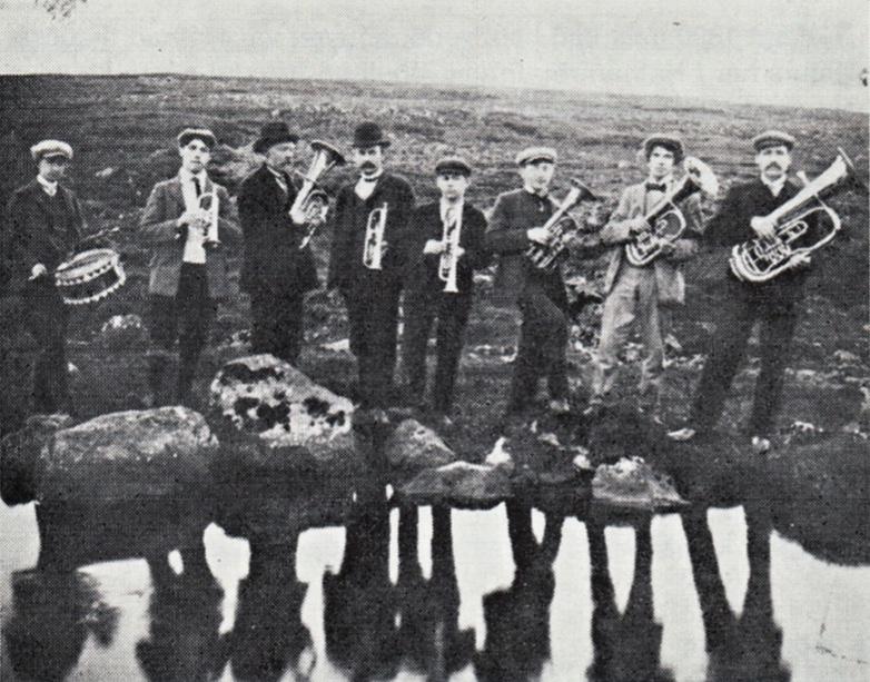 Lúðrasveit í Hafnarfirði 1908-1912